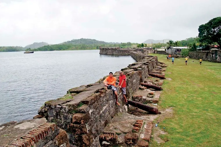 The author's son, Rohan, at San Jerónimo Fort, in Portobelo on the Caribbean.