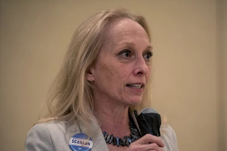 Mary Gay Scanlon is running for Pennsylvania's Fifth Congressional District seat.