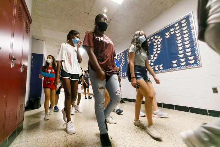 """In preparation for the 2021-22 school year, Eastern Regional High School in Voorhees held a """"transition camp"""" for freshman and other students new to the school to help ease the transition back to in-person classes."""