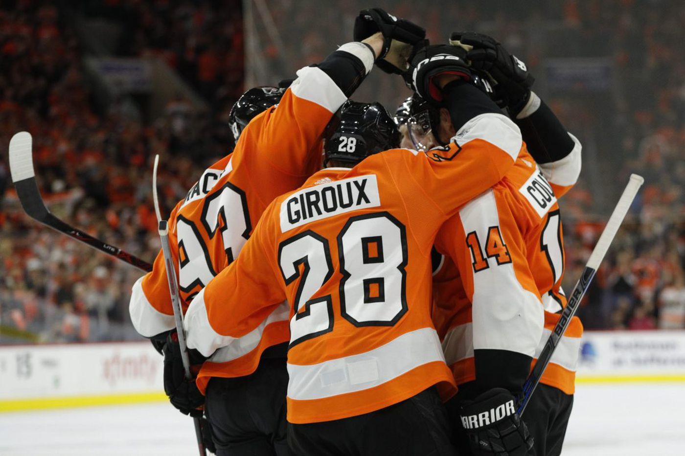 Sean Couturier, Claude Giroux and Jake Voracek know it's time to join the party