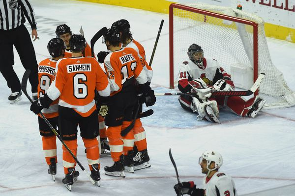 Surging Flyers outlast Senators, 3-2, inch to within 3 points of a playoff spot
