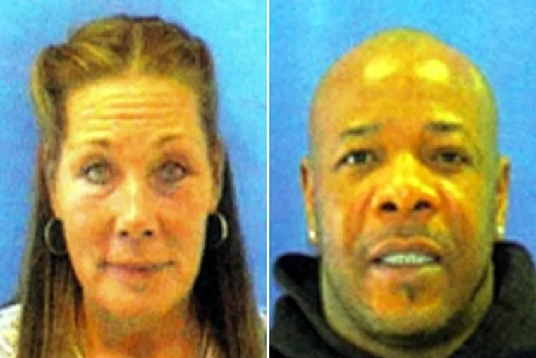 Police say Diane Corado (left), 57, was abducted at knifepoint by Kenneth L. Patterson (right), her ex-boyfriend.