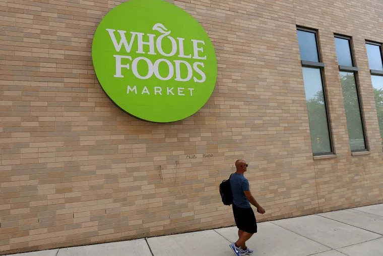An exterior view of the Whole Foods store in the Fairmount neighborhood of Philadelphia. On Monday, Whole Foods notified employees of a second confirmed coronavirus case at the store.