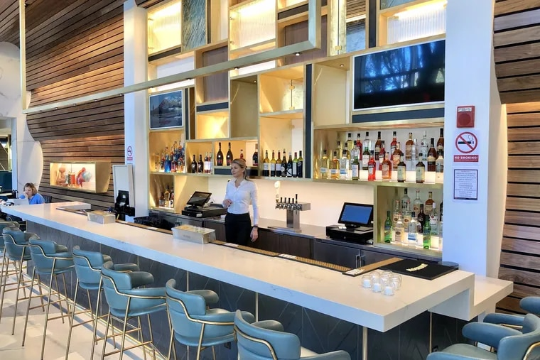 The bar at The Hadley, at Park Towne Place, 2200 Ben Franklin Parkway.