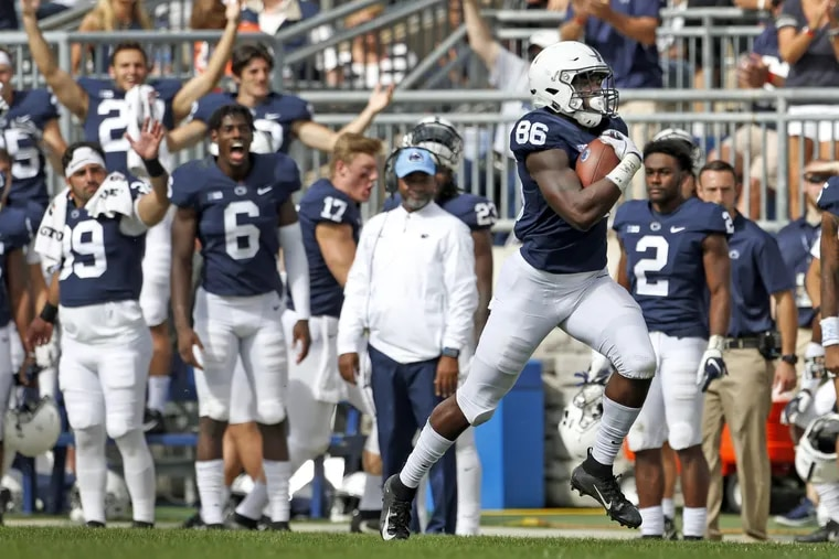 Penn State's Daniel George, here scoring against Kent State, could be a big factor next season.
