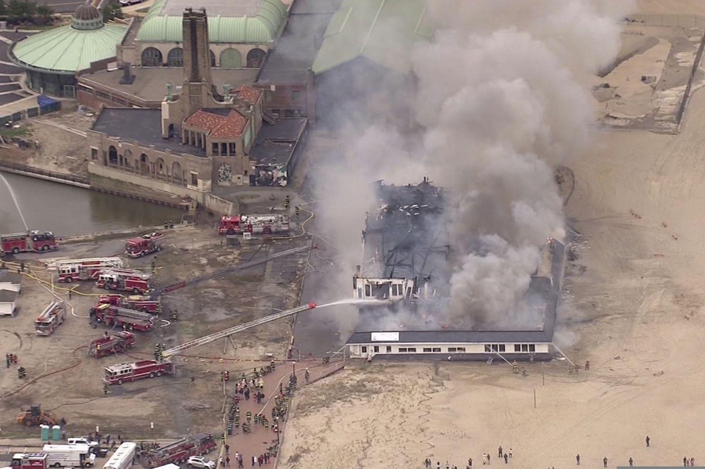 Cause of massive blaze that destroyed boardwalk cafe sought