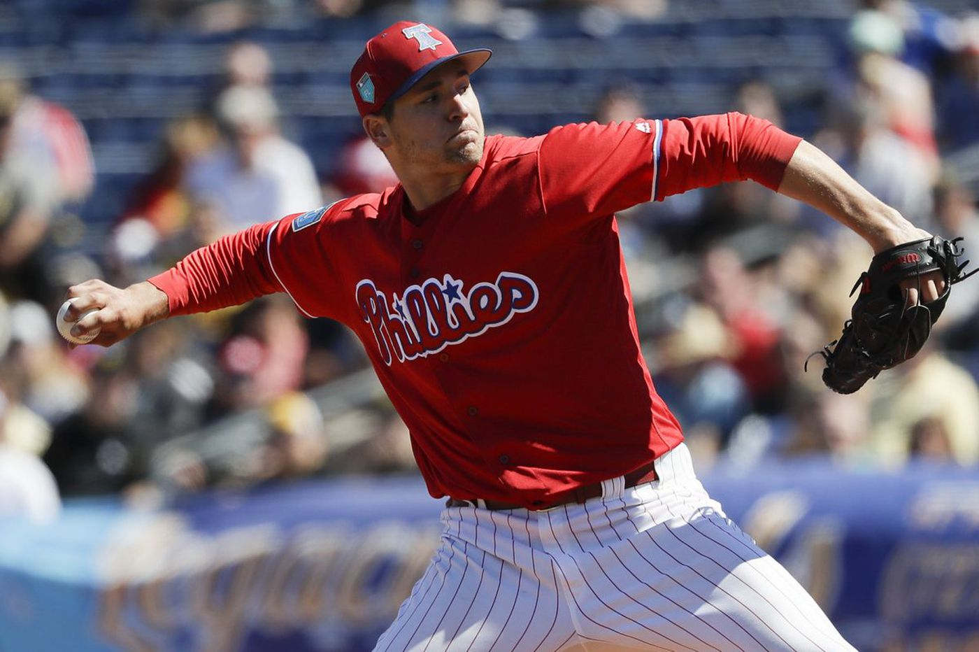 Phillies pitcher Jerad Eickhoff out six to eight weeks