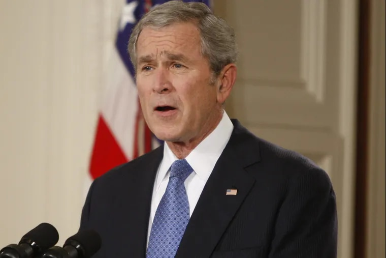 President George W. Bush gives a farewell address to the nation in January 2009.