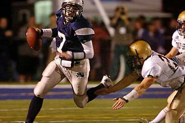 St Augustine's Dustin Thomas, an Inquirer first-team all-South Jersey quarterback, has made an oral commitment to Villanova. (Staff File Photo)