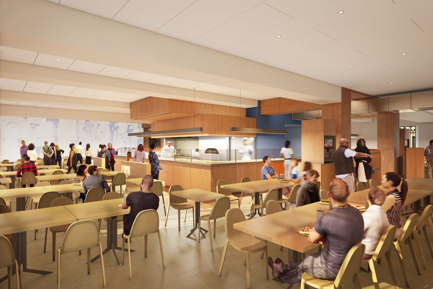 Artist S Rendering Of The Philadelphia Museum Art Cafeteria Designed By Frank Gehry
