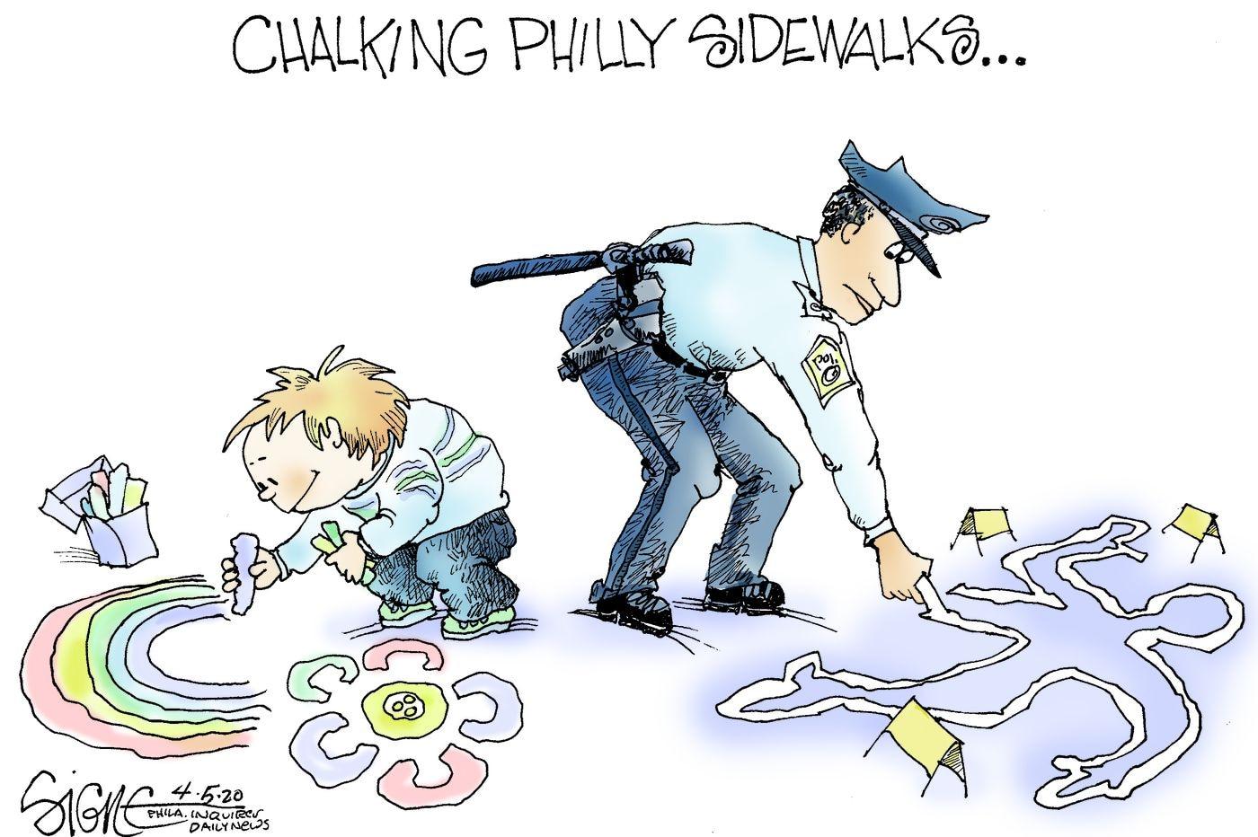 Political Cartoon: Philadelphia's gun virus viewed from the sidewalk