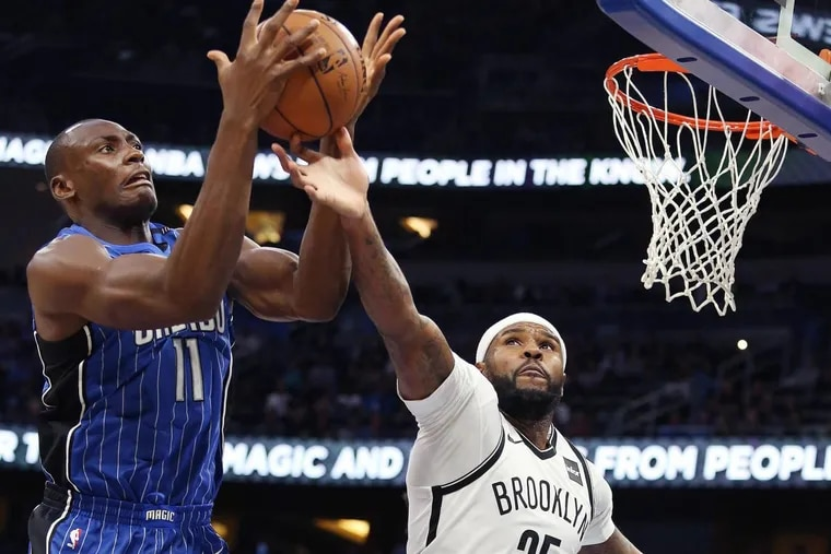 The Philadelphia 76ers acquired Trevor Booker (right) in a trade with the Brooklyn Nets that sent Jahlil Okafor and Nik Stauskas to Brooklyn.
