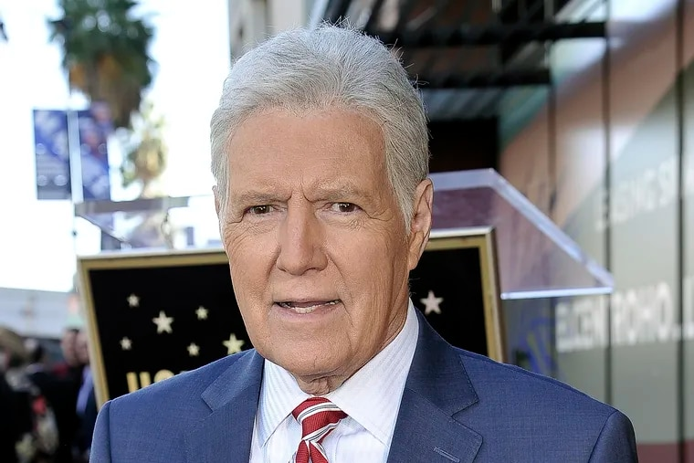 """FILE - Alex Trebek, host of """"Jeopardy!"""" attends a ceremony honoring the show's executive producer Harry Friedman with a star on the Hollywood Walk of Fame in Los Angeles, in this Friday, Nov. 1, 2019, file photo. """"Jeopardy!"""" host Alex Trebek died Sunday."""