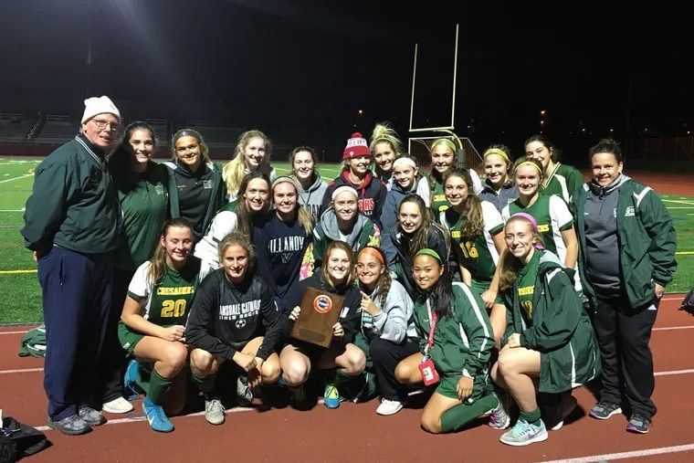 The Lansdale Catholic girls' soccer team won the District 12 Class 3A title on Wednesday.