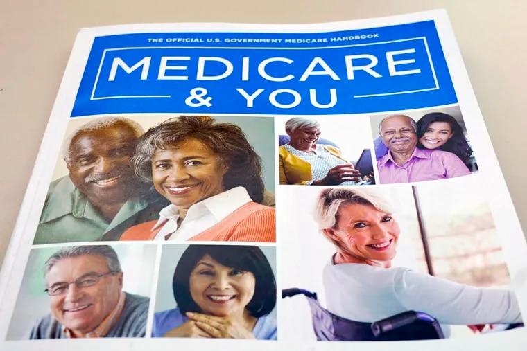 FILE - In this Nov. 8, 2018 file photo, the U.S. Medicare Handbook is photographed in Washington. (AP Photo/Pablo Martinez Monsivais)