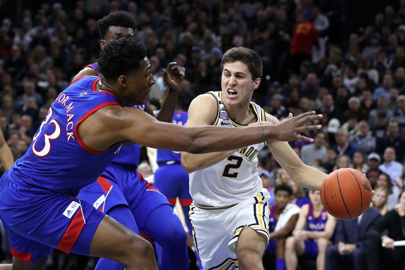 If you were watching, you saw Collin Gillespie's huge impact for Villanova in upset of Kansas