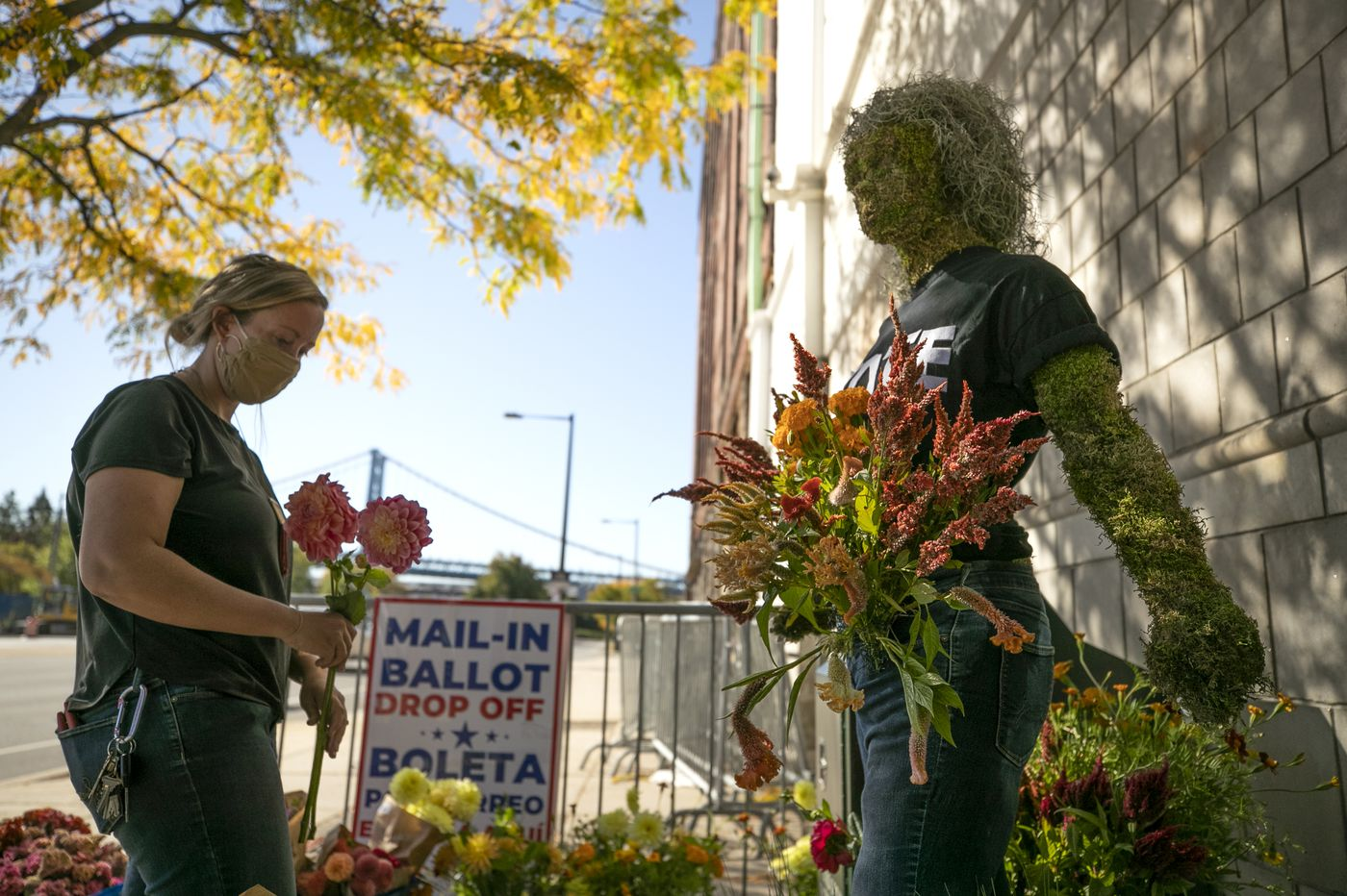 Philly florists bring beauty back to voting with public installations across the region