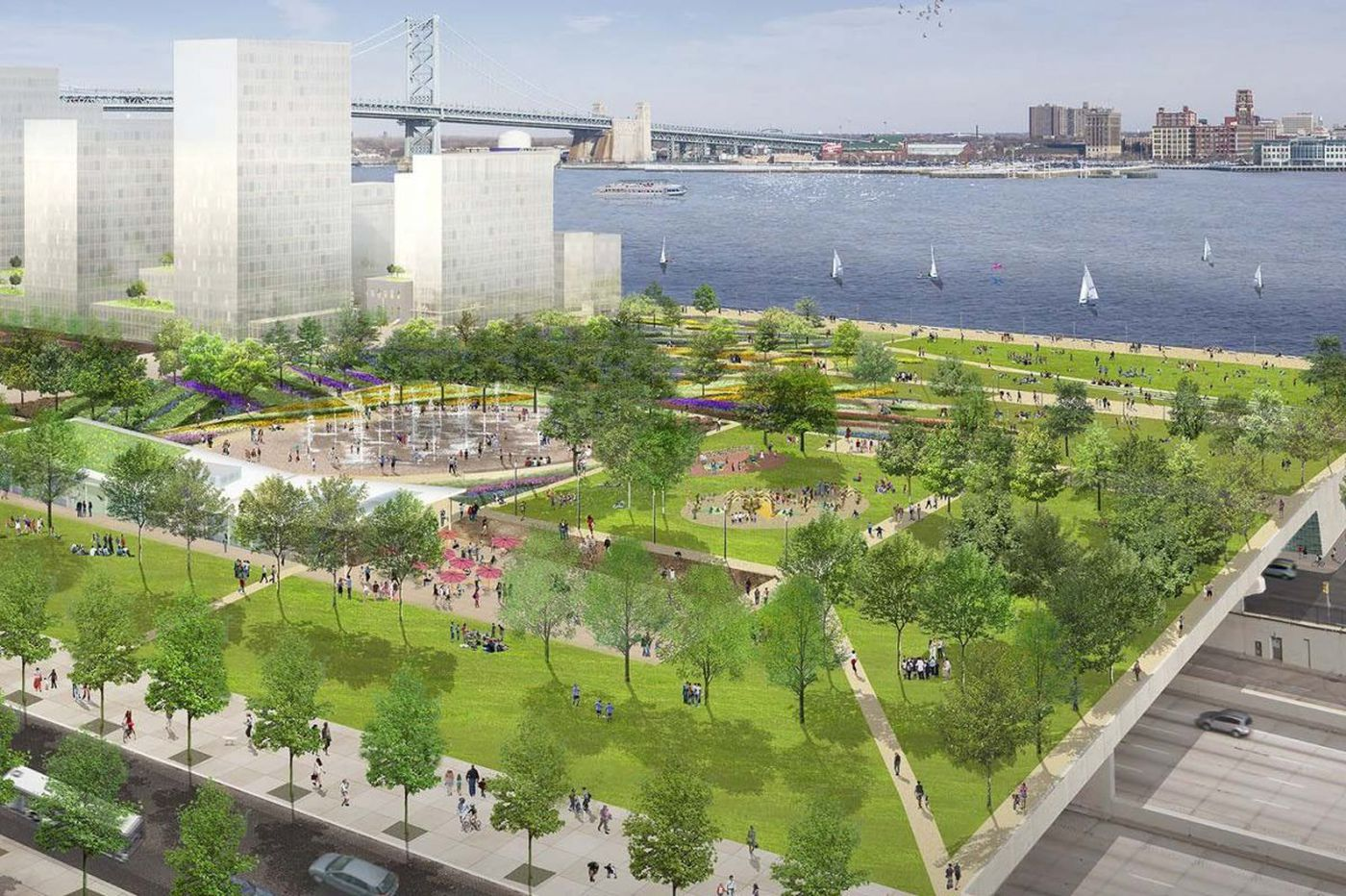 Plans for park over I-95 inch toward reality with fund-raising pledge