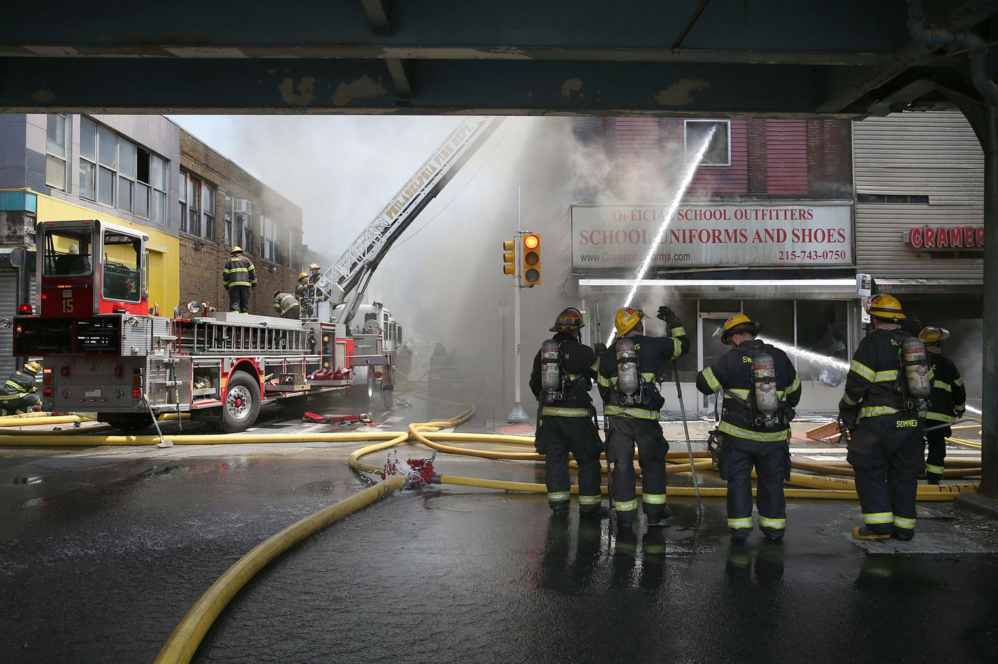 4-alarm fire destroys Philly school uniform store
