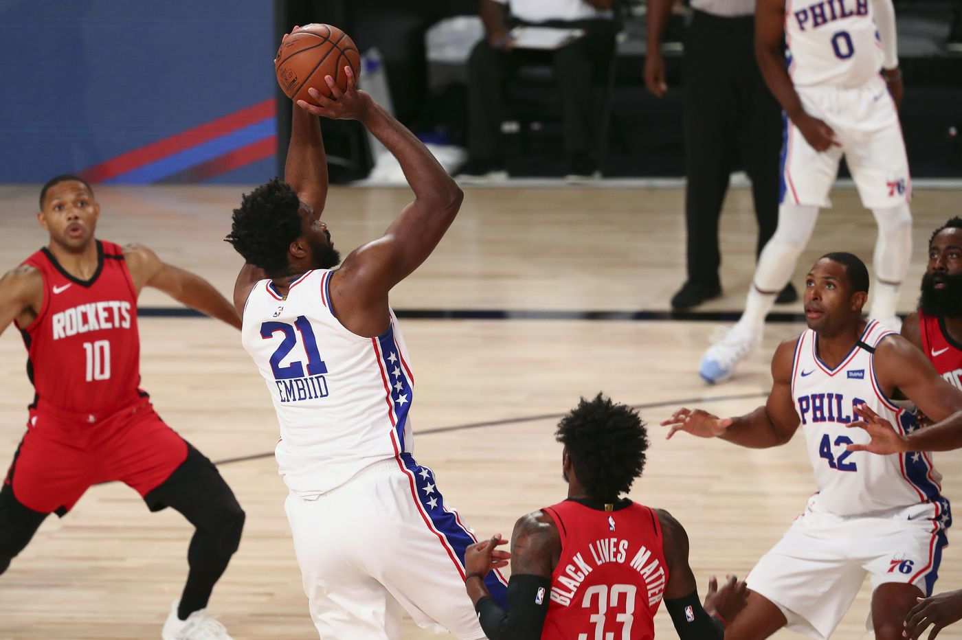 Sixers-Rockets observations: Joel Embiid gets his work in, James Harden's creativity, Matisse Thybulle's defense