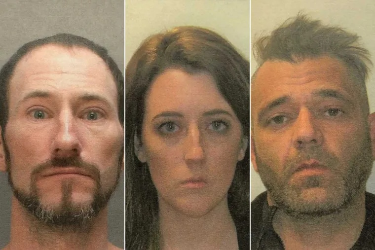(From left to right) Johnny Bobbitt, Kate McClure, and Mark D'Amico are facing charges in an alleged GoFundMe scam.
