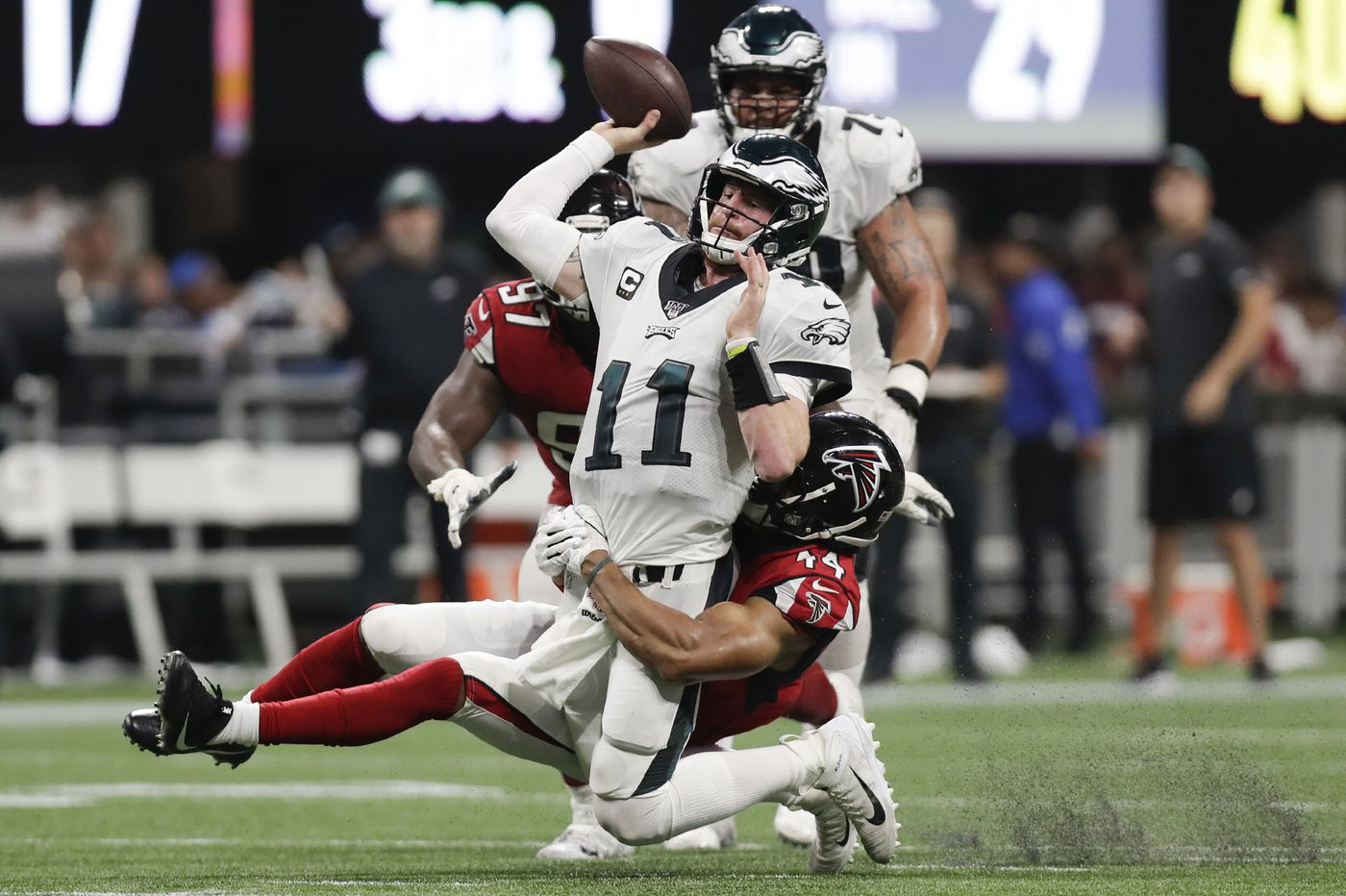 Carson Wentz's near-miraculous comeback not enough in Eagles loss to the Falcons