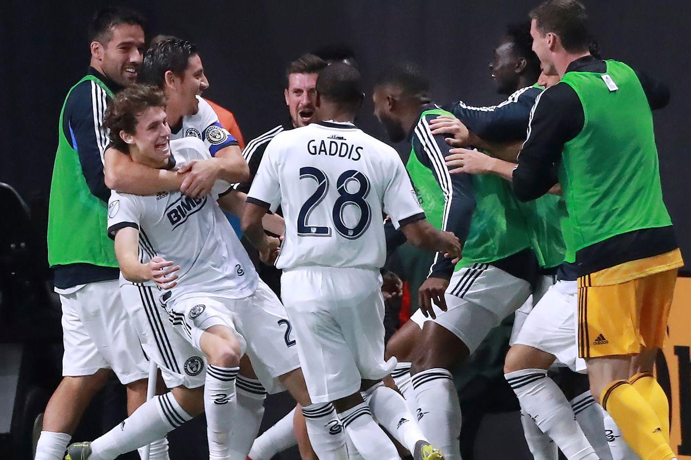 Union get 1-1 tie in Atlanta, Medford's Brenden Aaronson scores first career goal