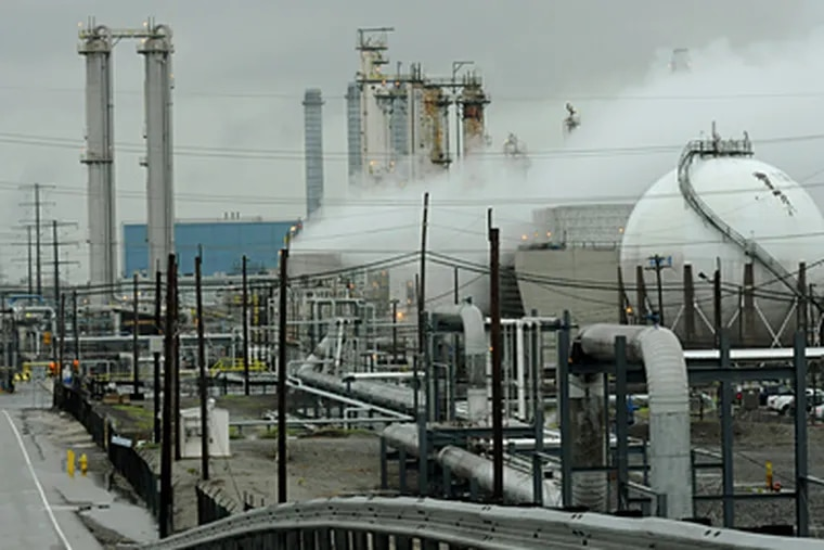 The Sunoco refinery in Marcus Hook will be closed immediately, instead of in July 2012, company officials said Thursday. All but 100 of the 590 workers at the Delaware River location will lose their jobs within two to three months. (April Saul / Staff Photographer)