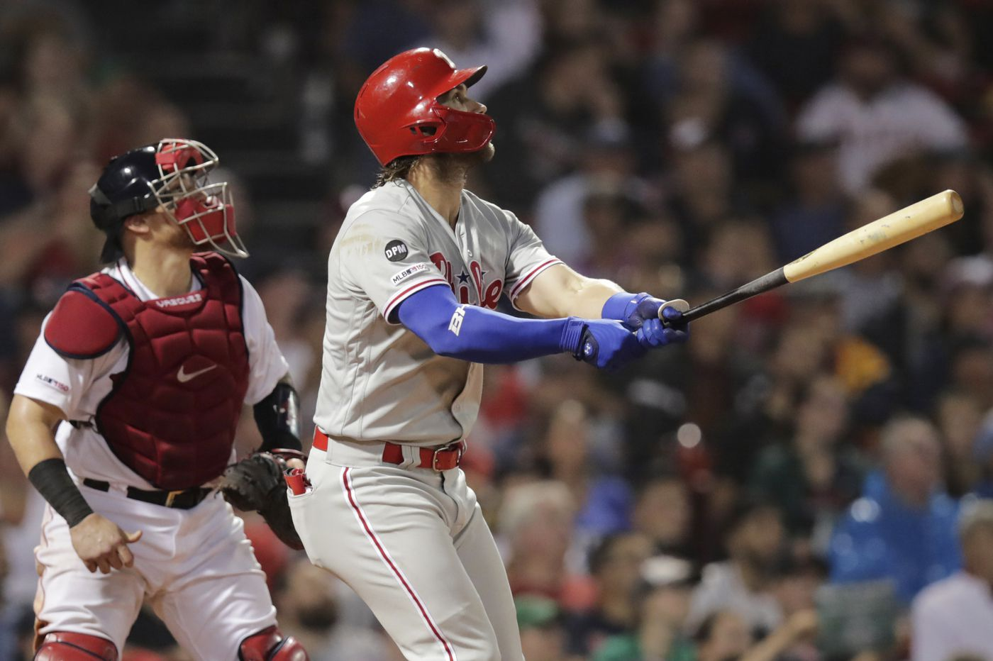Bryce Harper's two-run homer, stellar work by bullpen lift Phillies to sweep of Red Sox at Fenway Park