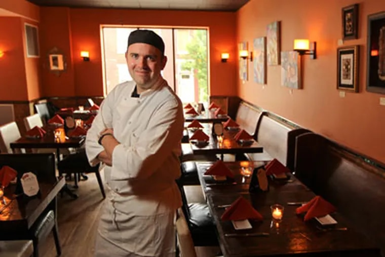 Chef Michael Cappon in Isabella's in Conshohocken. (Michael Bryant / Staff Photographer)