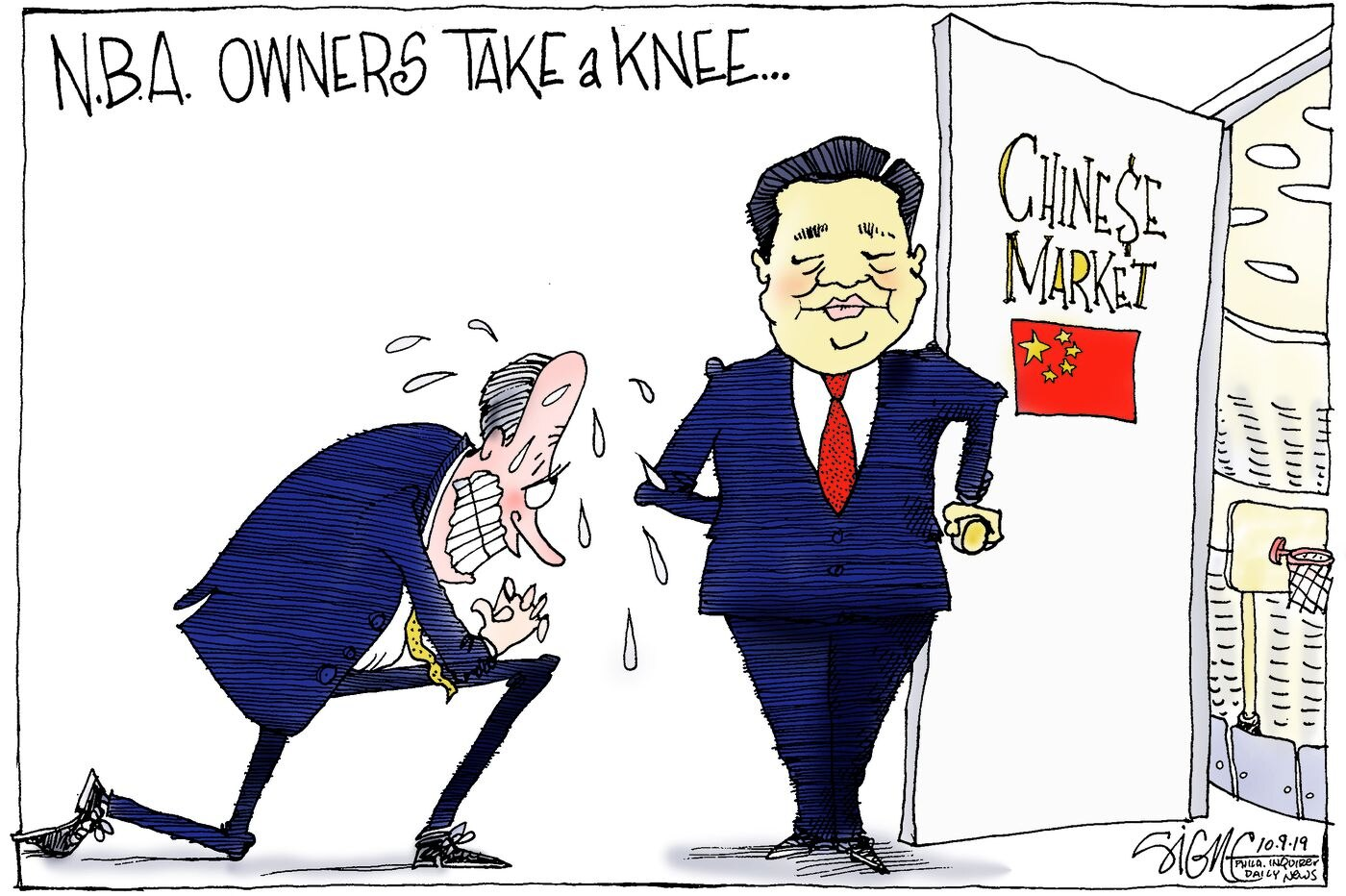Political Cartoon: Houston Rockets courting China