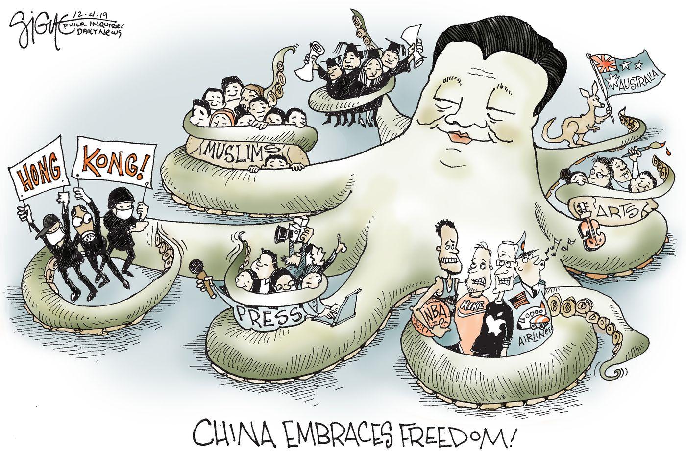 Political Cartoon: China embraces freedom
