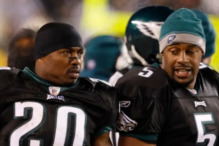 Eagles' Brian Dawkins (left) and Donovan McNabb won't be taking the Browns lightly.