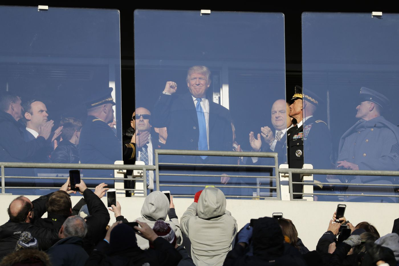Trump will handle coin toss for Army-Navy football game in Philadelphia