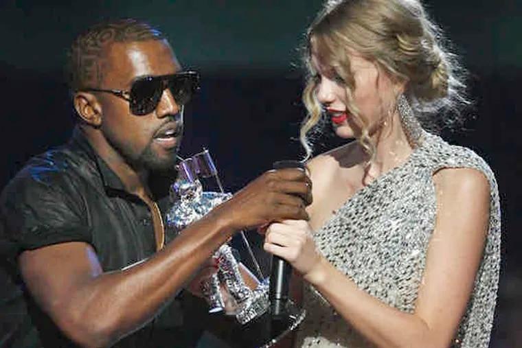 Kanye West proved his jerkishness vis-a-vis Taylor Swift at the MTV awards.