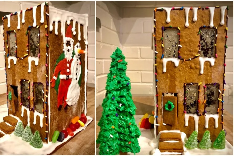 Mighty Bread Company's gingerbread rowhouse.