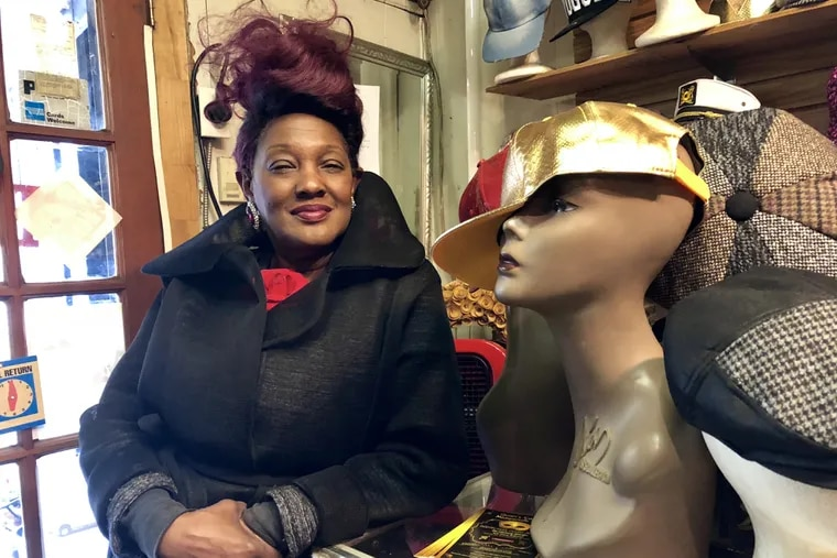 """Gwendolyn Hosey, or """"Ms. G,"""" has run her boutique, Struttin' Lightly, at 52nd and Arch Streets since 2000. Her children aren't interested in taking over the business."""