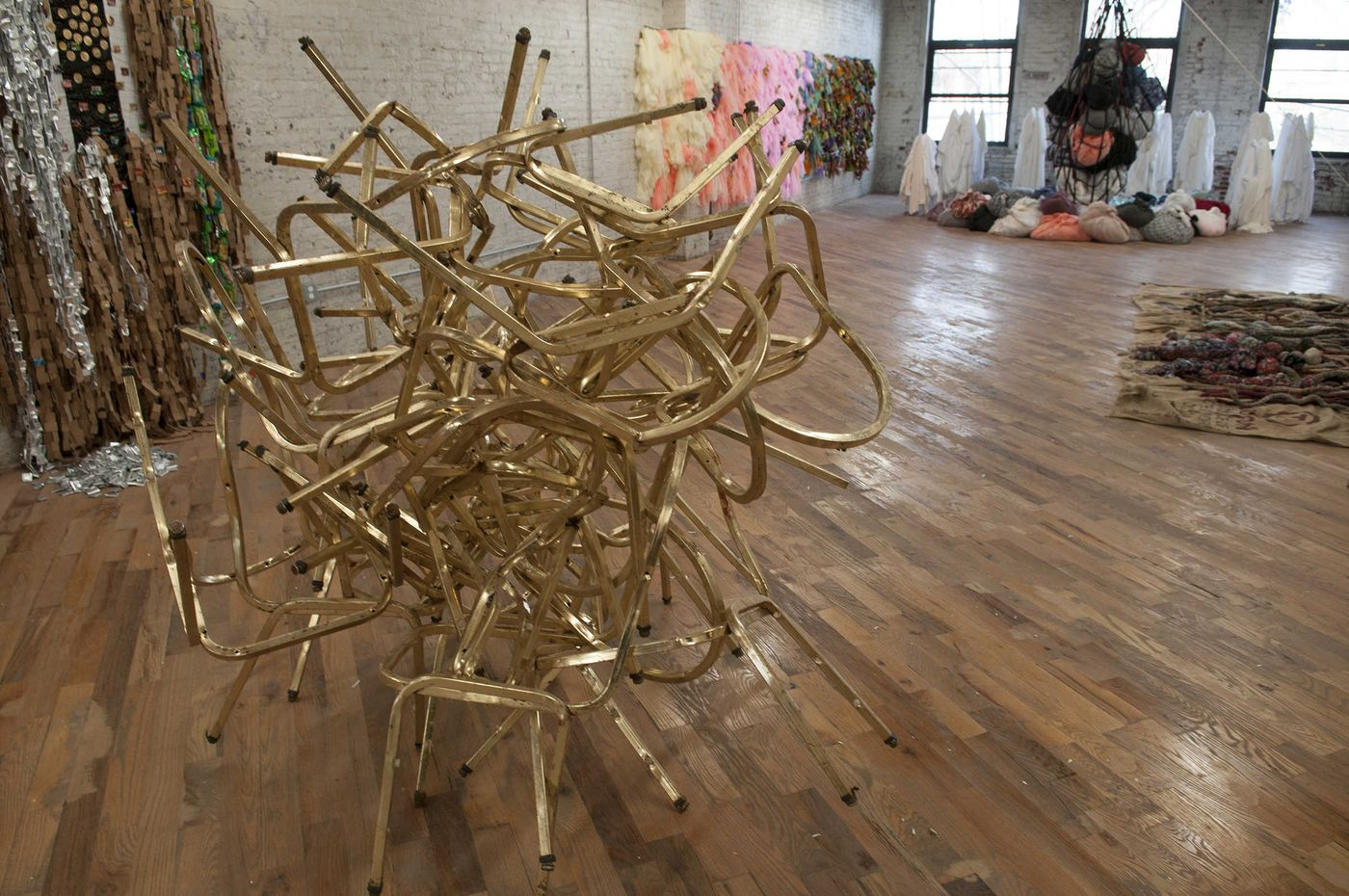 North Philly's makeshift memorials inspired a Nigerian artist's monumental new work