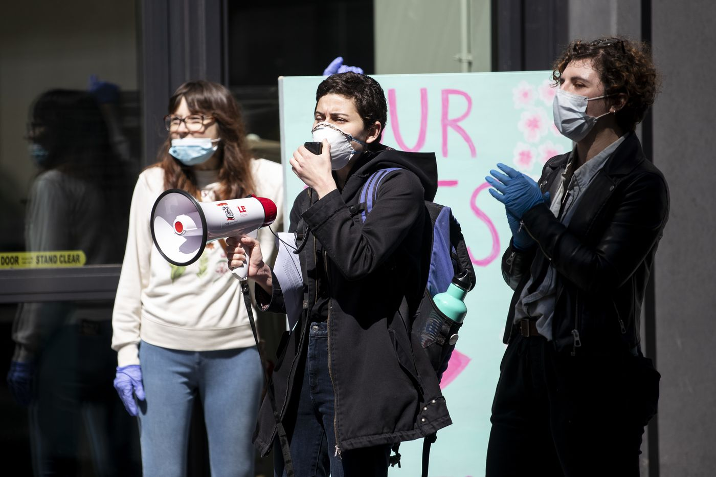 Mom's Organic staffers protest in Philly, joining grocery workers' call for coronavirus hazard pay