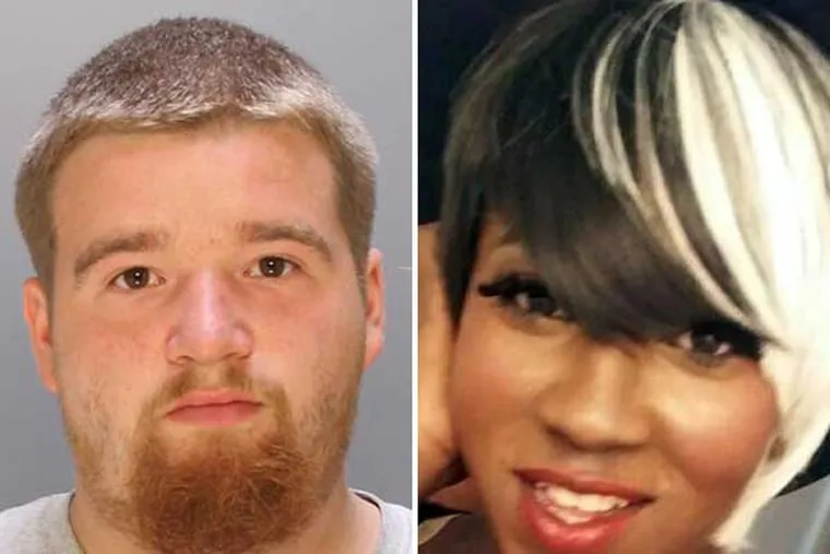 Pedro Redding (left) has been charged in the slaying of Kiesha Jenkins (right).