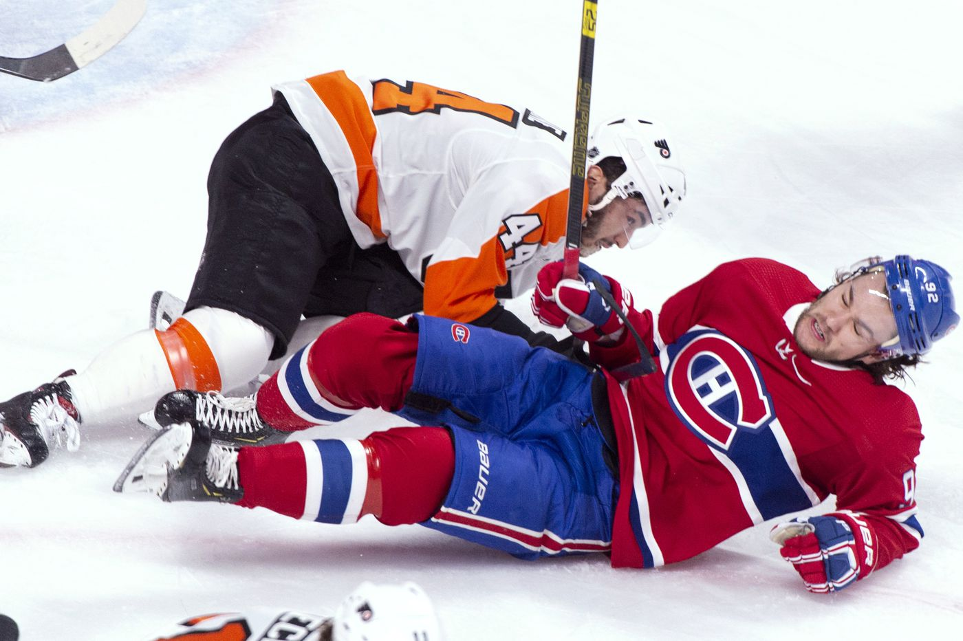 Flyers-Canadiens observations: Wayne Simmonds, Claude Giroux struggling as playoff hopes get dimmer