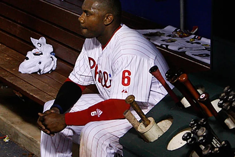 With the absence of Jayson Werth the Phillies need to decide who will bat behind Ryan Howard. (Ron Cortes/Staff Photographer)