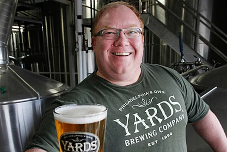 Tom Kehoe, of Yards Brewing Co. in Old City , isn't surprised that Philadelphia ranked third on a list of the nation's top beer cities.