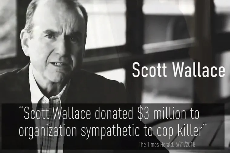 An ad tying Democrat Scott Wallace to convicted cop-killer Mumia Abu-Jamal has been taken off the airwaves.