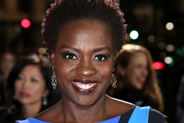 """Viola Davis arrives at the Los Angeles premiere of """"Ender's Game"""" at TCL Chinese Theatre on Monday, Oct. 28, 2013. (Photo by Matt Sayles/Invision/AP)"""