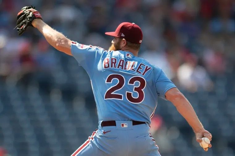 Archie Bradley has become a go-to arm for the Phillies in the late innings.