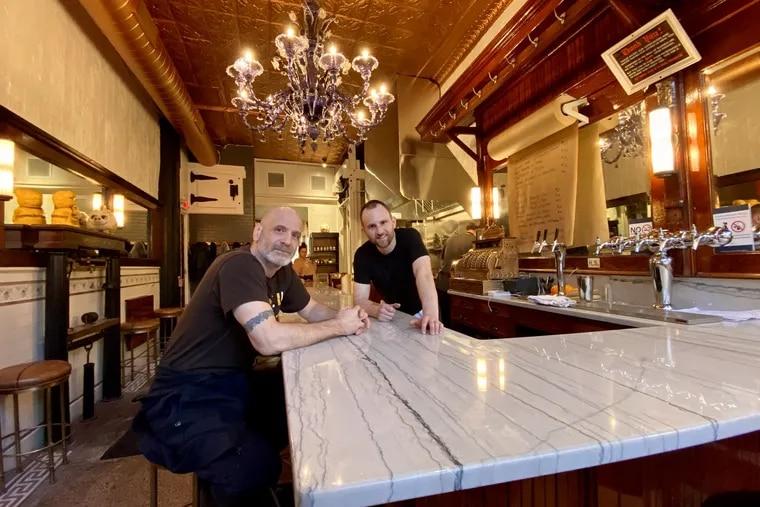 Chefs Marc Vetri (left) and Matt Rodrigue at Fiorella: 14 seats at 817 Christian St.