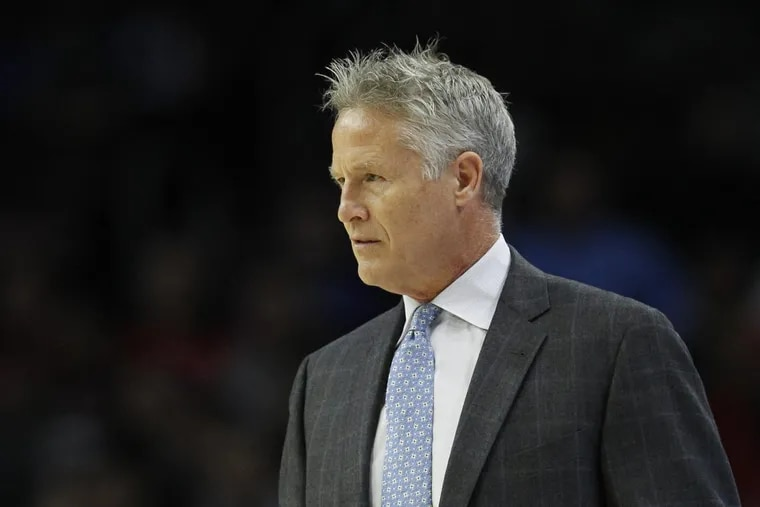 Sixers coach Brett Brown's group has struggled holding onto leads.