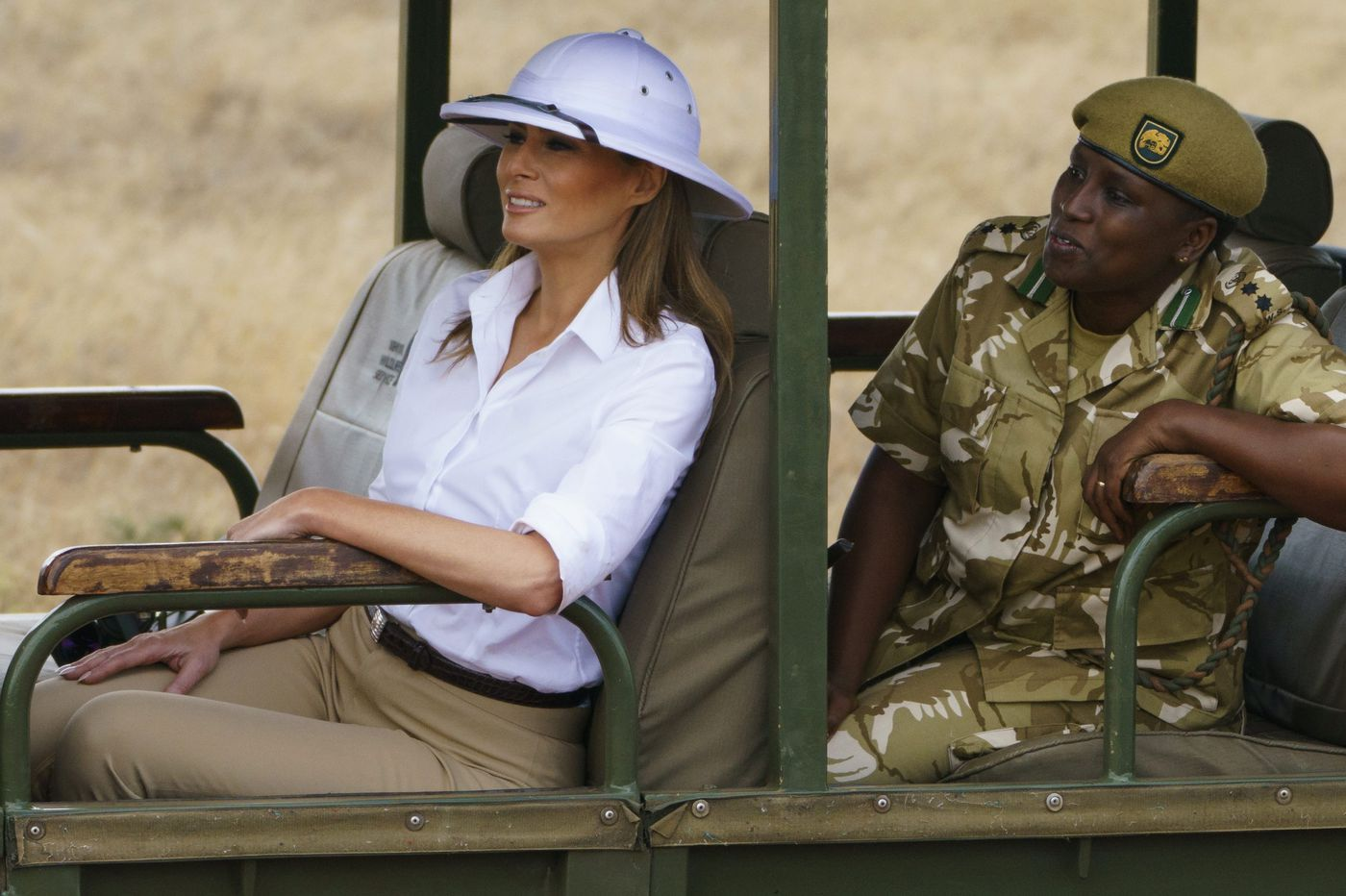 Why it matters that Melania Trump wore a pith helmet on her trip to Africa | Elizabeth Wellington