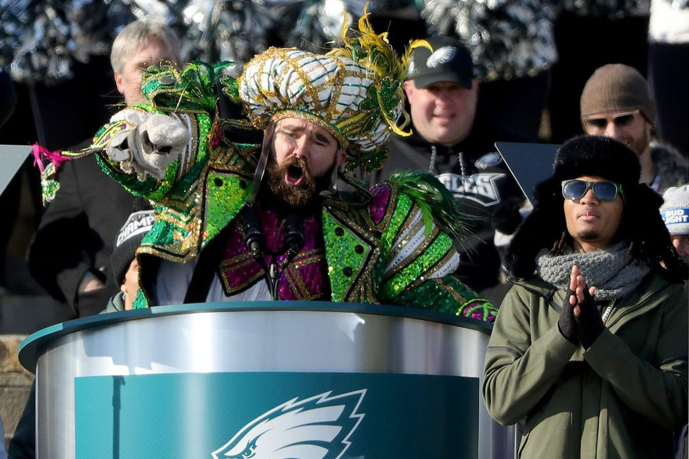 Jason Kelce's 'No One Likes Us' chant at Eagles parade comes from soccer